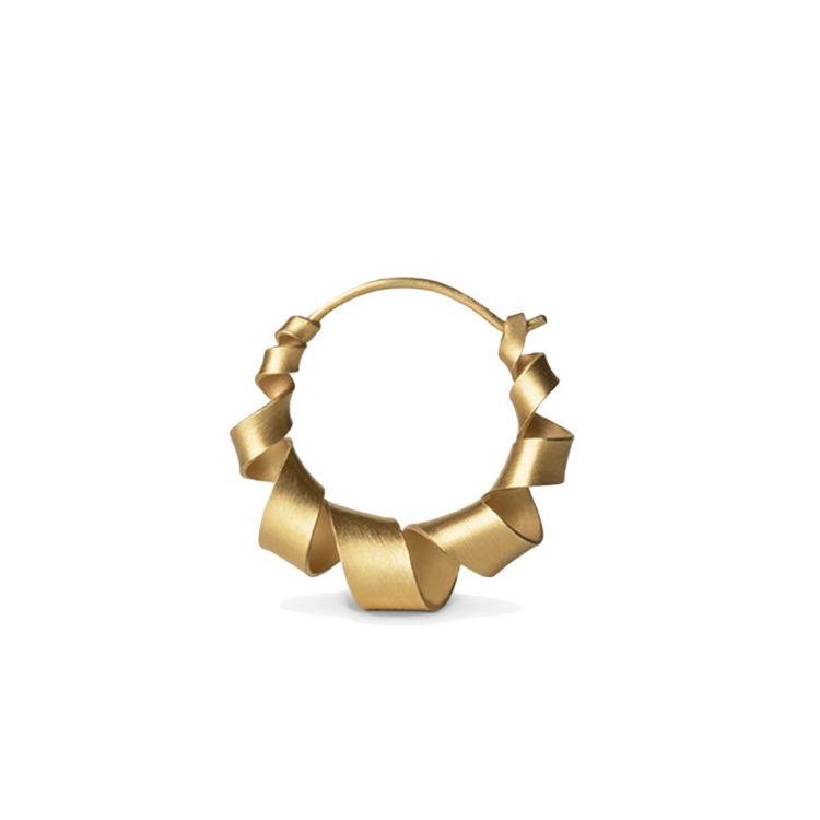 mini curly hoops