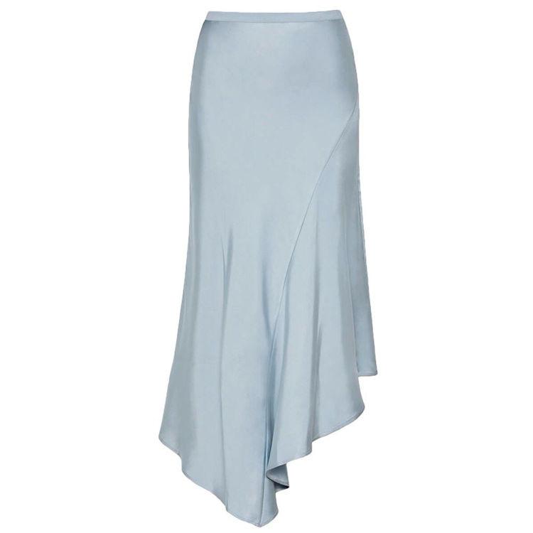 Silk skirt flare