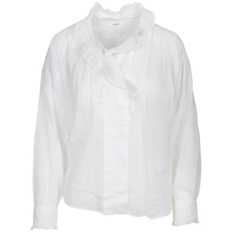 skjorte med flæs