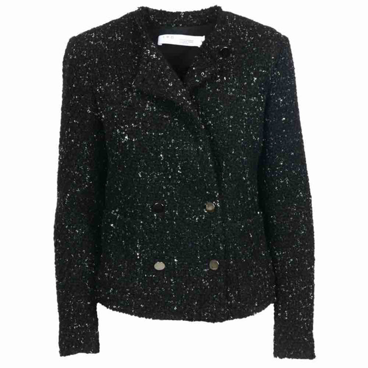 Kort bouclé jakke