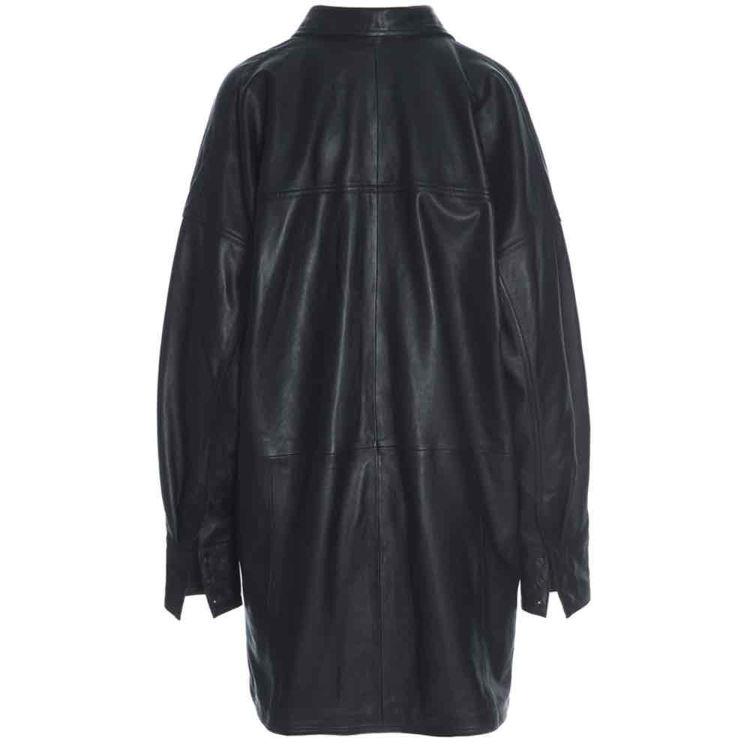 skindskjorte jakke oversize