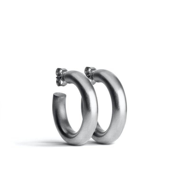 Chunky hoops øreringe sølv