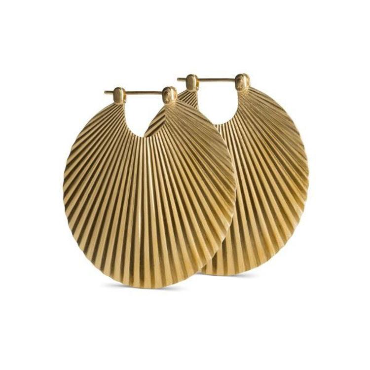 Shell earrings big guld