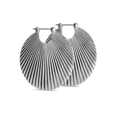 Shell earrings big sølv