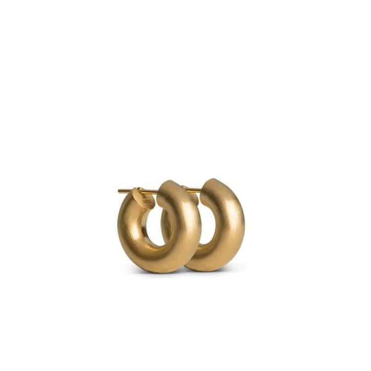 Mini chunky hoops guld