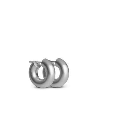 Mini chunky hoops sølv