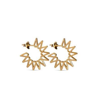 Small sun earrings guld