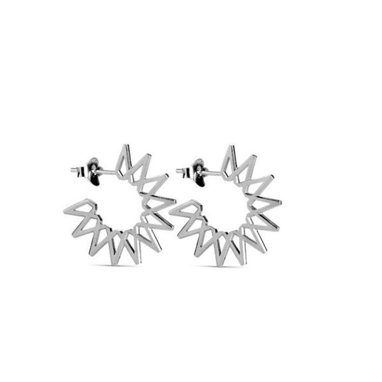 Small sun earrings sølv
