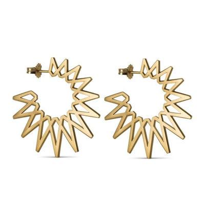 Sun earrings big guld