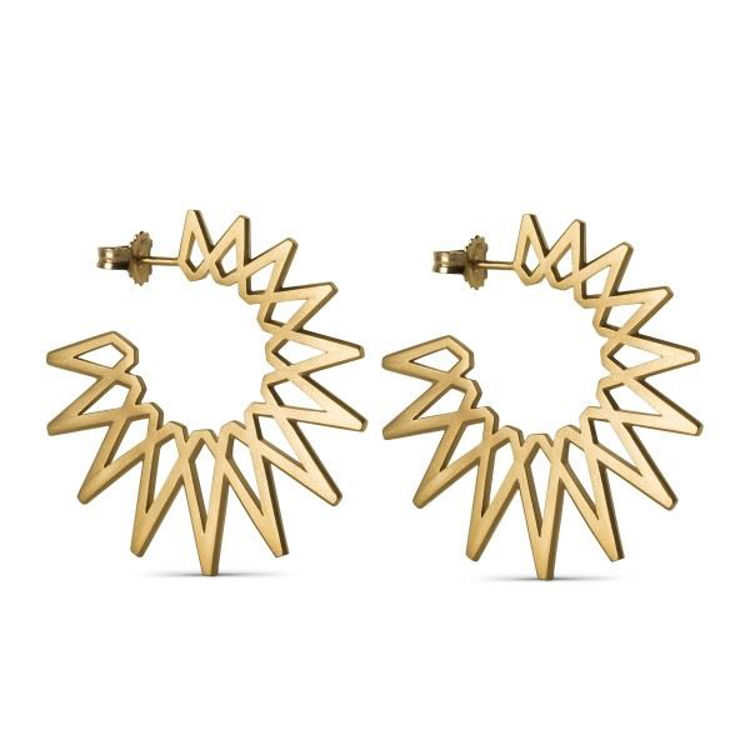 Sun earrings big guld