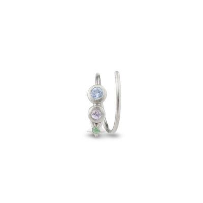 Star spiral earring sølv