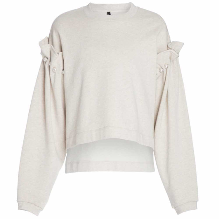 sweatshirt with pearl shoulder