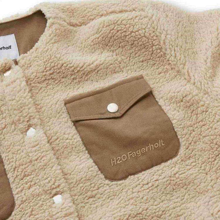 checket pile shirt jacket