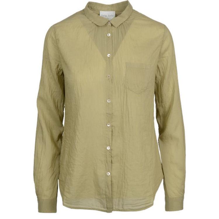 cotton silk skjorte