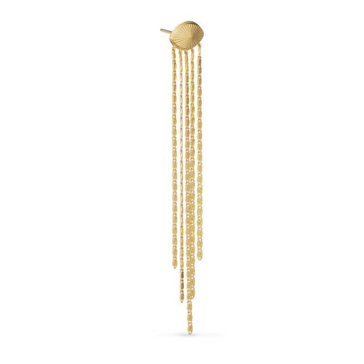 Envision s-chain stud earrings guld