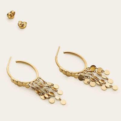 Hoop earrings with disks