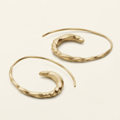 Flow small asymmetric earrings