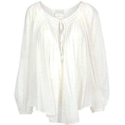 cotton silk bohemian skjorte