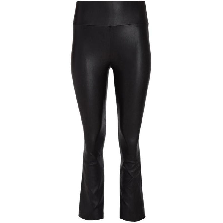 flare leather pants