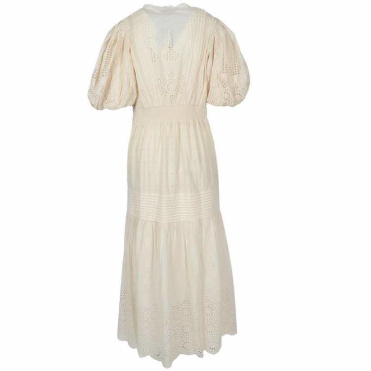 Eyelet puff slv dress