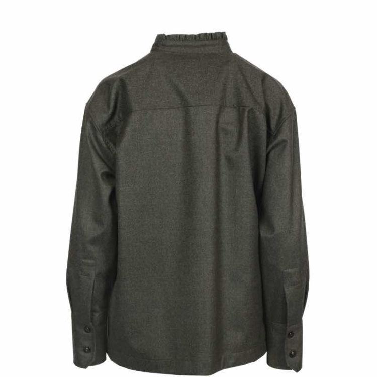 skjorte m. flæskant i uld