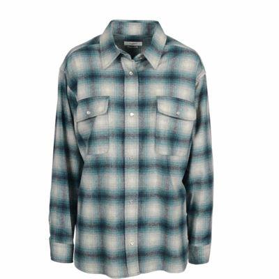 skjorte uld i tern