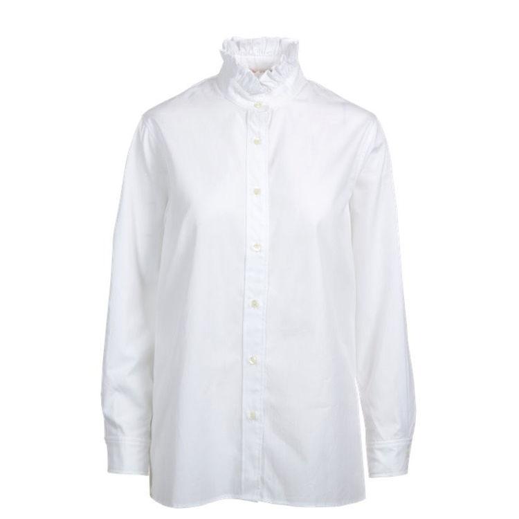 skjorte m. flæsekant