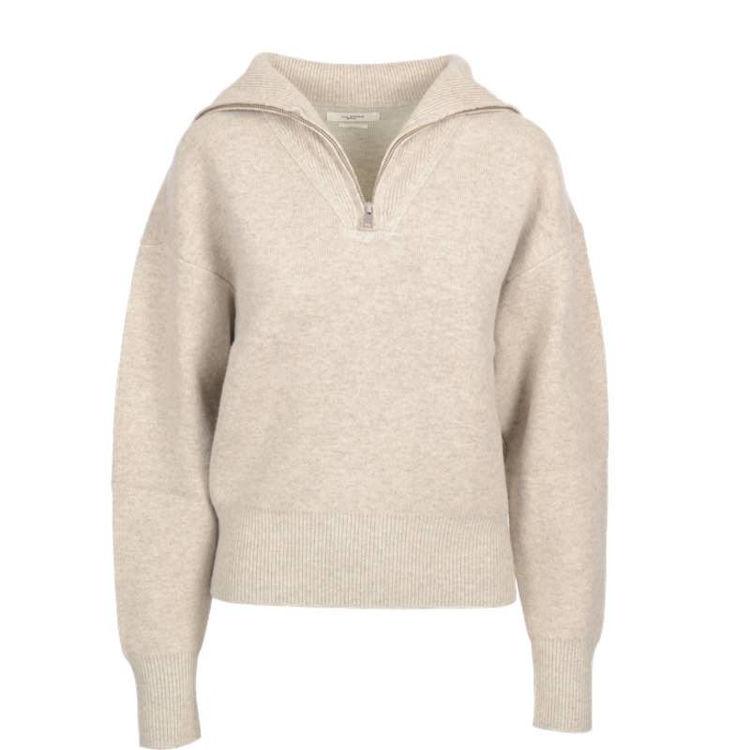 Pullover w. zip