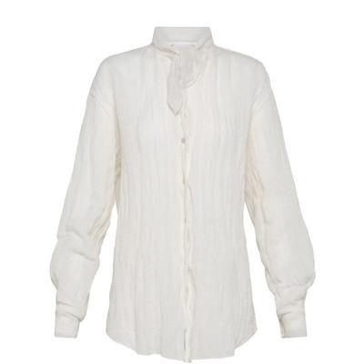 skjorte m. bindebånd
