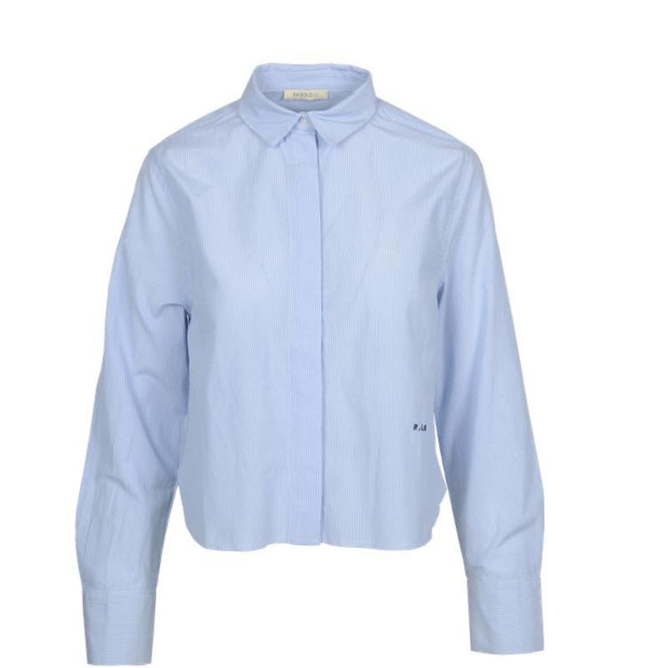 Cropped shirt stripe
