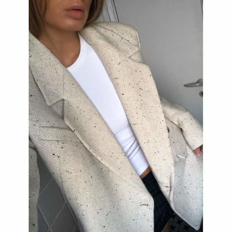 Oversized wrapped blazer